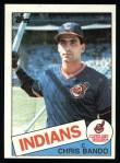 1985 Topps #14  Chris Bando  Front Thumbnail