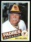 1985 Topps #66  Dick Williams  Front Thumbnail