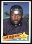 1985 Topps #718  Jeff Leonard  Front Thumbnail