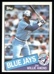 1985 Topps #436  Willie Aikens  Front Thumbnail