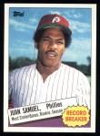 1985 Topps #8  Juan Samuel  Front Thumbnail