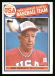 1985 Topps #389   -  Rod Dedeaux Team USA Front Thumbnail