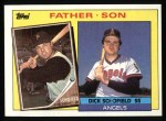 1985 Topps #138  Dick Schofield / Dick Schofield Jr.  Front Thumbnail
