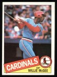 1985 Topps #757  Willie McGee  Front Thumbnail