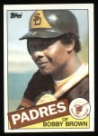 1985 Topps #583  Bobby Brown  Front Thumbnail