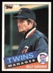 1985 Topps #213  Billy Gardner  Front Thumbnail