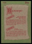 1985 Topps #133  Ray Boone / Bob Boone  Back Thumbnail