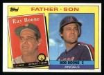 1985 Topps #133  Ray Boone / Bob Boone  Front Thumbnail