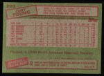 1985 Topps #293  Curt Young  Back Thumbnail