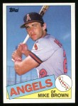 1985 Topps #258  Mike Brown  Front Thumbnail