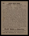 1939 Play Ball #79  Joe Moore  Back Thumbnail