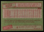 1985 Topps #621  Marvis Foley  Back Thumbnail