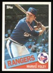 1985 Topps #621  Marvis Foley  Front Thumbnail