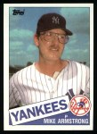 1985 Topps #612  Mike Armstrong  Front Thumbnail