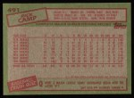 1985 Topps #491  Rick Camp  Back Thumbnail