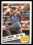 1985 Topps #4  Cliff Johnson  Front Thumbnail