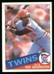 1985 Topps #329  Ron Washington  Front Thumbnail