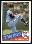 1985 Topps #406  Len Whitehouse  Front Thumbnail