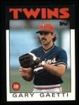 1986 Topps #97  Gary Gaetti  Front Thumbnail
