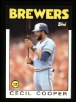 1986 Topps #385  Cecil Cooper  Front Thumbnail