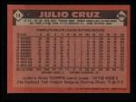 1986 Topps #14  Julio Cruz  Back Thumbnail