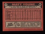 1986 Topps #676  Matt Young  Back Thumbnail