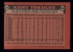 1986 Topps #326  Kent Tekulve  Back Thumbnail
