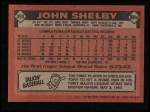 1986 Topps #309  John Shelby  Back Thumbnail
