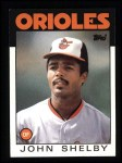 1986 Topps #309  John Shelby  Front Thumbnail