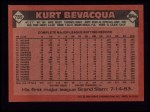 1986 Topps #789  Kurt Bevacqua  Back Thumbnail