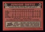 1986 Topps #682  Junior Ortiz  Back Thumbnail