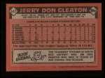 1986 Topps #447  Jerry Don Gleaton  Back Thumbnail