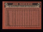 1986 Topps #135  Joe Niekro  Back Thumbnail