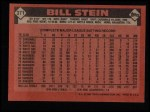 1986 Topps #371  Bill Stein  Back Thumbnail