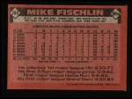 1986 Topps #283  Mike Fischlin  Back Thumbnail