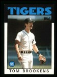 1986 Topps #643  Tom Brookens  Front Thumbnail