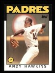 1986 Topps #478  Andy Hawkins  Front Thumbnail