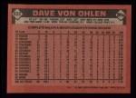 1986 Topps #632  Dave Von Ohlen  Back Thumbnail