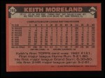 1986 Topps #266  Keith Moreland  Back Thumbnail