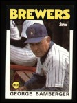 1986 Topps #21  George Bamberger  Front Thumbnail