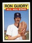 1986 Topps #721   -  Ron Guidry All-Star Front Thumbnail