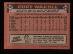 1986 Topps #303  Curt Wardle  Back Thumbnail