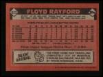 1986 Topps #623  Floyd Rayford  Back Thumbnail