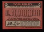 1986 Topps #466  Tom Foley  Back Thumbnail