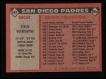 1986 Topps #681  Dick Williams  Back Thumbnail