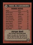 1986 Topps #718   -  George Bell All-Star Back Thumbnail