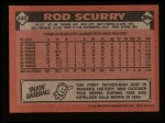 1986 Topps #449  Rod Scurry  Back Thumbnail
