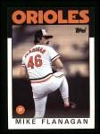 1986 Topps #365  Mike Flanagan  Front Thumbnail