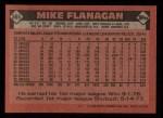 1986 Topps #365  Mike Flanagan  Back Thumbnail