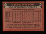 1986 Topps #773  Greg Pryor  Back Thumbnail